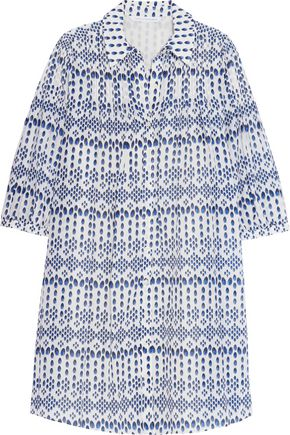 DIANE VON FURSTENBERG Pleated voile mini dress