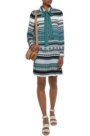 DIANE VON FURSTENBERG Seanna printed silk-blend mini shirt dress
