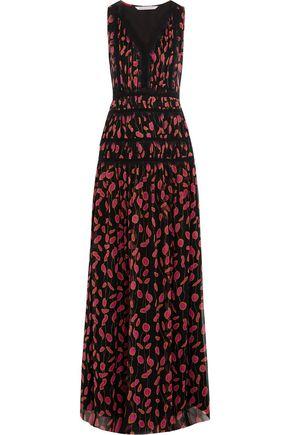 DIANE VON FURSTENBERG Jordanna printed silk crepe de chine maxi dress
