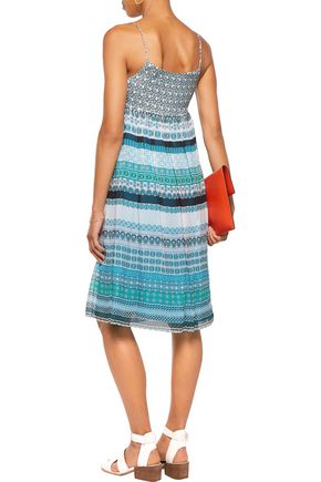 DIANE VON FURSTENBERG Tie-front printed silk-georgette dress