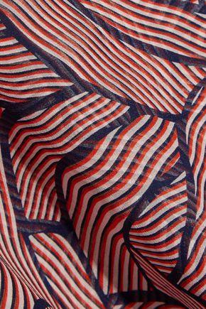 DIANE VON FURSTENBERG Rosalie jersey and printed silk-chiffon dress