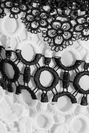 SACHIN & BABI Rossa paneled guipure lace mini dress