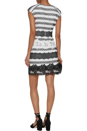 SACHIN & BABI NOIR Rossa paneled guipure lace mini dress