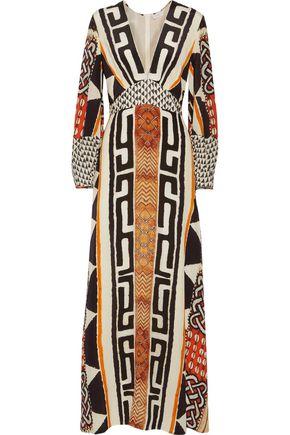 CAMILLA Printed silk-chiffon maxi dress