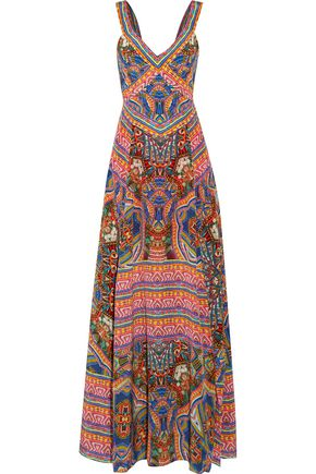 CAMILLA Printed silk crepe de chine maxi dress