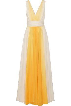 HALSTON HERITAGE Ombré chiffon gown
