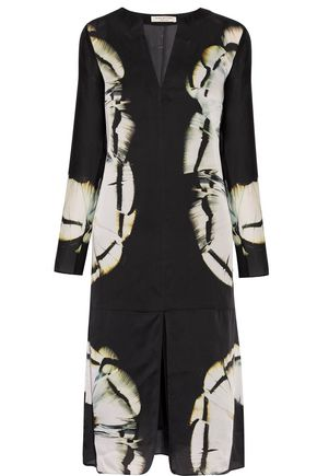 HALSTON HERITAGE Printed silk dress