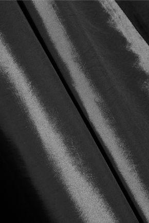 HALSTON HERITAGE Pleated satin-twill gown