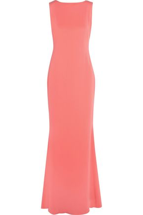MARCHESA NOTTE Draped crepe gown