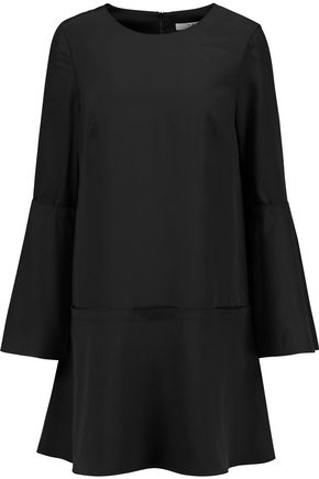 TIBI Belle fluted silk crepe de chine mini dress