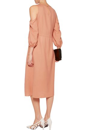 TIBI Winston cutout wool midi dress