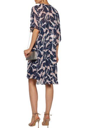 MIKAEL AGHAL Layered printed chiffon dress