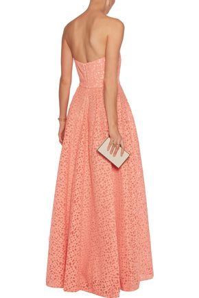 MIKAEL AGHAL Appliqued tulle gown