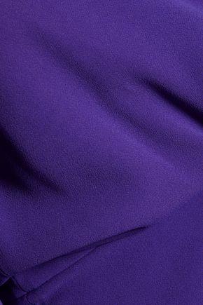 ROLAND MOURET Mayer off-the-shoulder crepe dress