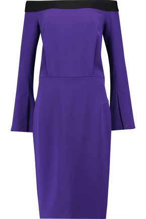 ROLAND MOURET Mayer off-the-shoulder crepe dress
