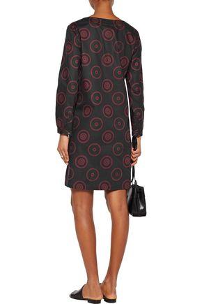 A.P.C. Lace-up printed cotton-blend dress