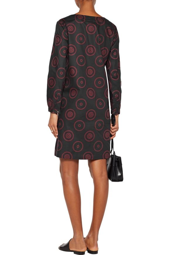 Lace-up printed cotton-blend dress | A.P.C. | Sale up to 70% off | THE  OUTNET