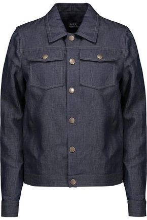 A.P.C. Cotton and linen-blend chambray jacket