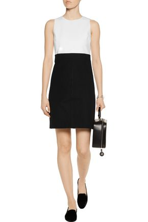 THEORY Raneid paneled cady mini dress