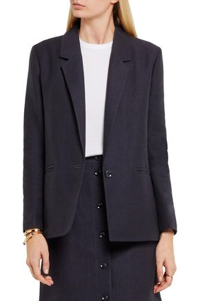 A.P.C. Jacqueline linen and cotton-blend blazer