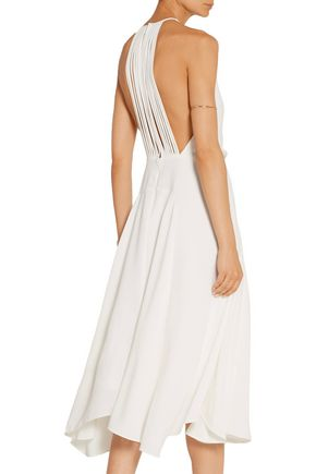 HALSTON HERITAGE Stretch-crepe midi dress