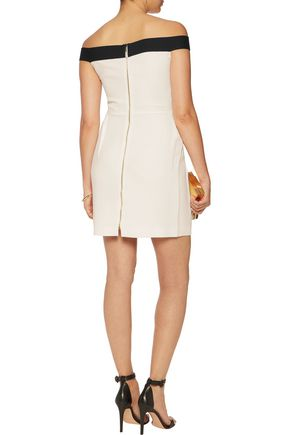 ROLAND MOURET Barnabus off-the-shoulder gathered crepe mini dress