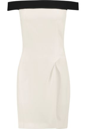 ROLAND MOURET Barnabus strapless gathered crepe mini dress