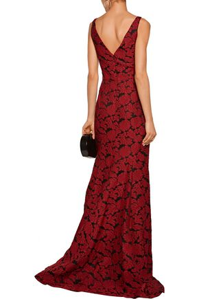 J. MENDEL Embroidered gauze gown