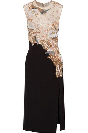 J. MENDEL Embellished embroidered tulle and silk dress