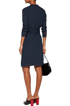 A.P.C. Belted plissé-silk dress