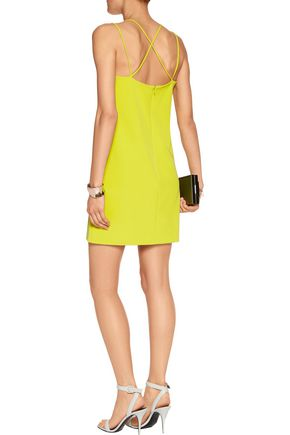 MILLY Stretch-twill mini dress