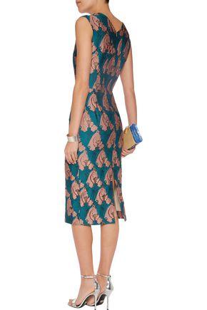 EMILIA WICKSTEAD Ferni wool-crepe midi dress