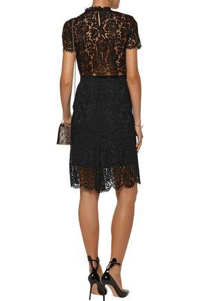 DIANE VON FURSTENBERG Alma cutout corded lace dress
