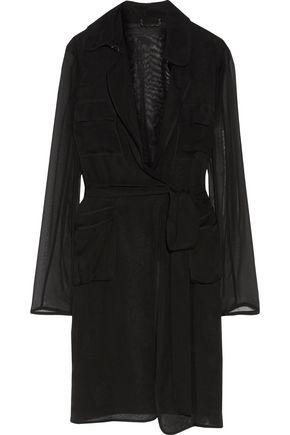 DIANE VON FURSTENBERG Blaine belted silk-georgette trench coat