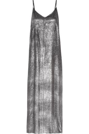 RTA Marlene silk-lamé maxi dress
