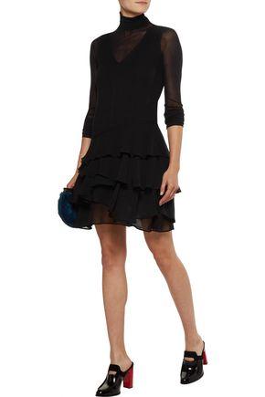 OPENING CEREMONY Mercer ruffled crinkled silk-chiffon mini dress