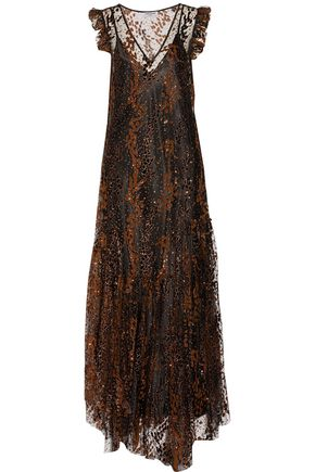 OPENING CEREMONY Glittered flocked tulle gown