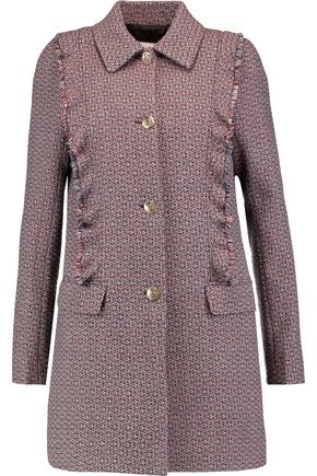 SONIA RYKIEL Fringed wool-tweed jacket