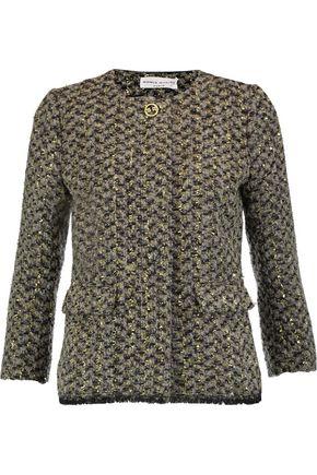 SONIA RYKIEL Metallic wool, mohair and alpaca-blend tweed jacket