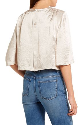 SONIA RYKIEL Crinkled-satin top
