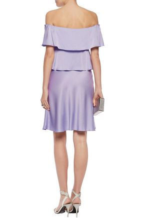 SONIA RYKIEL Off-the-shoulder tiered satin dress