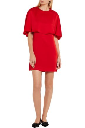 SONIA RYKIEL Cape-effect satin-crepe mini dress