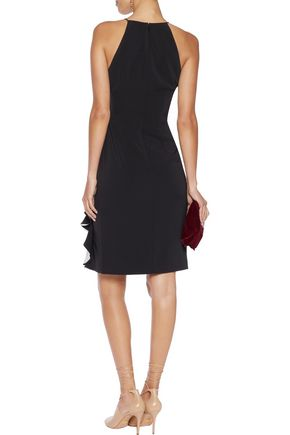 BADGLEY MISCHKA Ruffled crepe dress