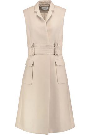 CARVEN Buckled cotton-gabardine gilet