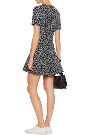 CARVEN Printed crepe mini dress