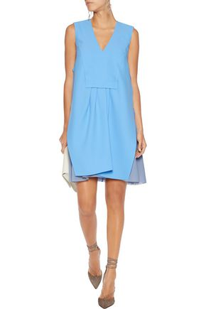 CARVEN Pleated crepe mini dress
