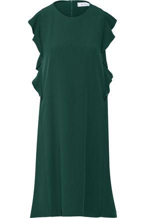 CARVEN Ruffled crepe mini dress
