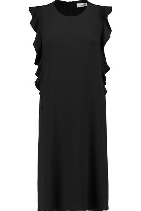 CARVEN Ruffled crepe mini dress