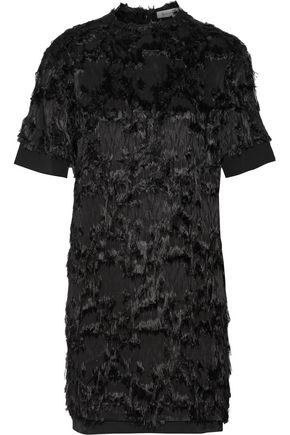 CARVEN Fil coupé jacquard and organza mini dress
