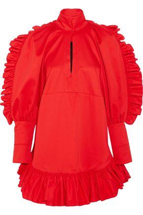ELLERY Kenickie ruffled cotton-twill mini dress